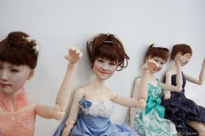 """Clone Factory dolls feature real """"cloned"""" faces. Image: Trend Hunter"""