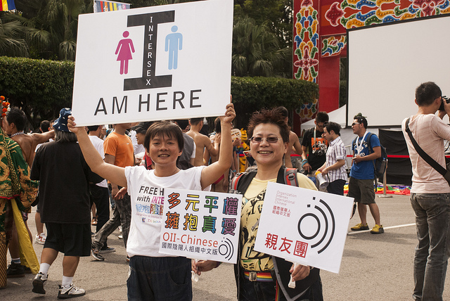 Intersex activists in Taiwan celebrate their identity.