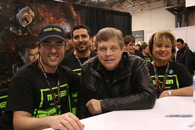 Mark Hamill at New Your Comic Con 2011 with the creative team from NEW-GEN.