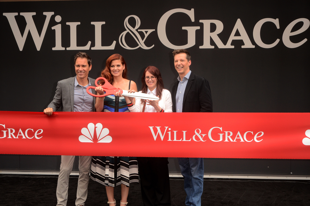 """The cast of """"Will & Grace"""" kick off the 2017 season at Universal Studios."""