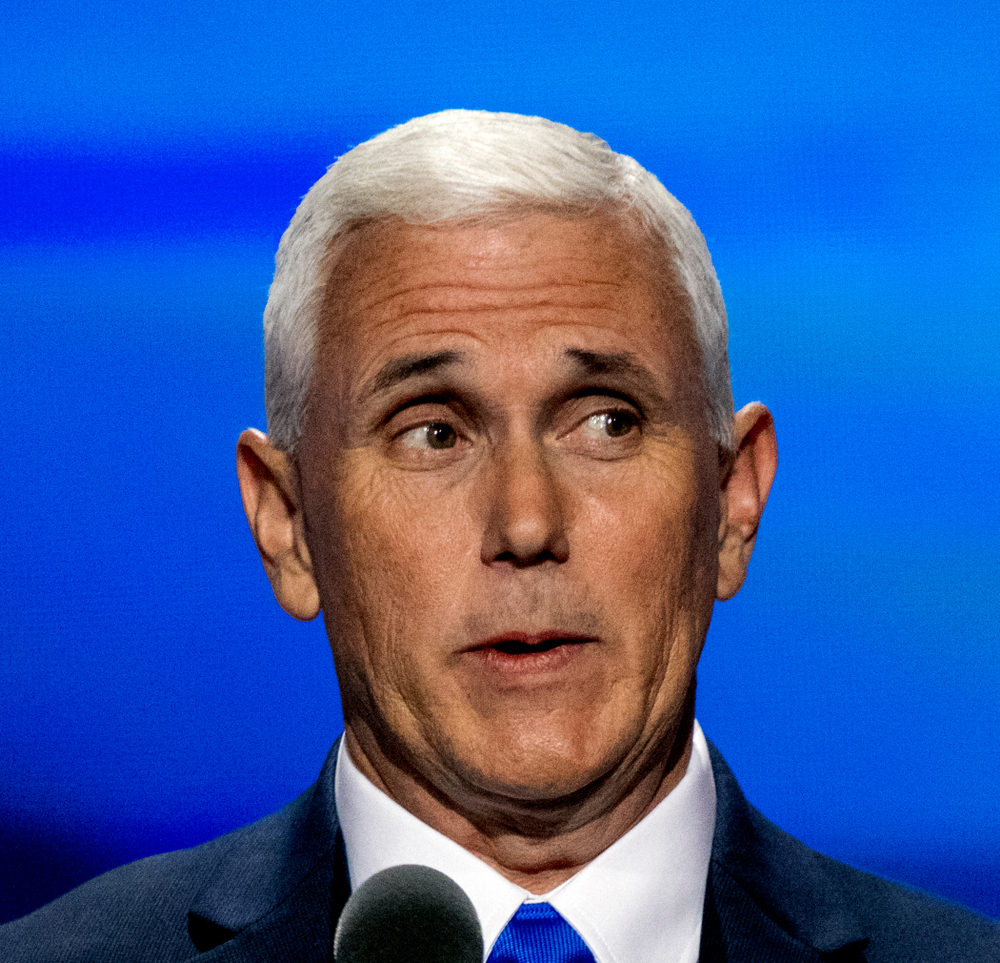 A photo of Mike Pence at the 2016 Republican National Convention.