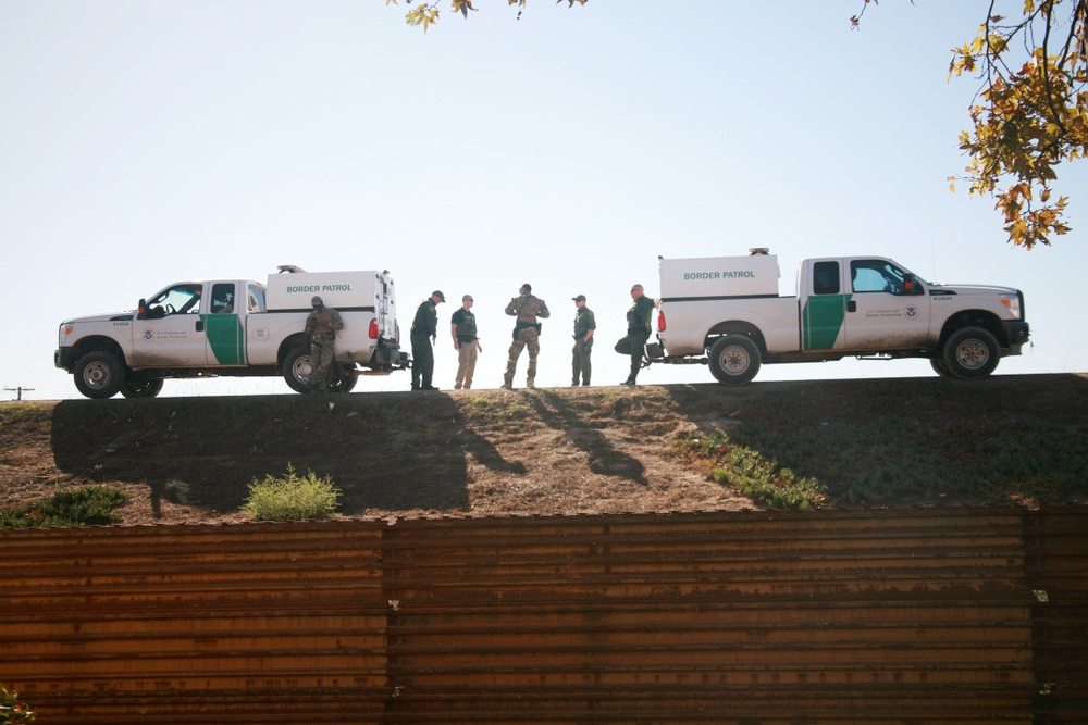 ICE agents at the border