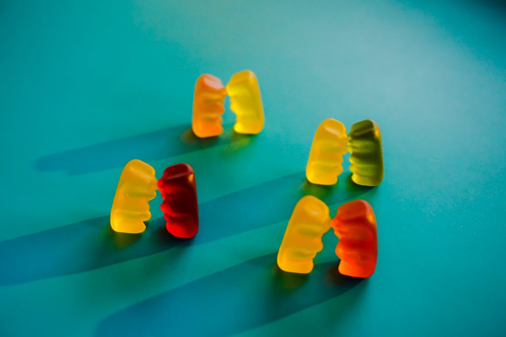 gummy bears representing sex education and relationships