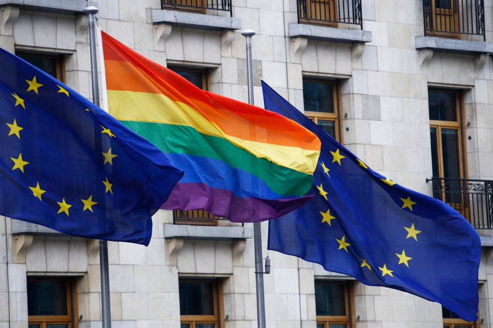 EU rainbow flags