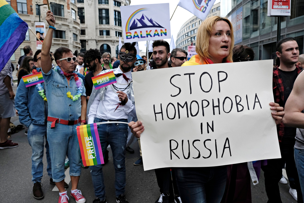 Protests against anti-lgbt russian policies